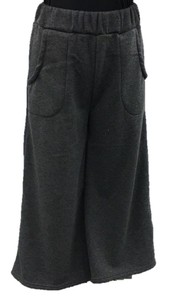 Raised Back Plain Gaucho Pants