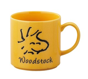 Snoopy Face Mug Wood