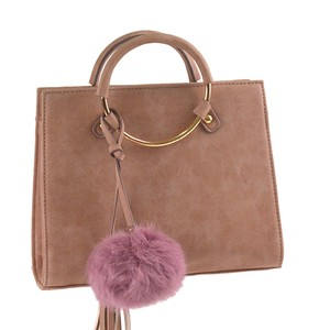 Fur Tassel Charm Attached Boston A/W Material