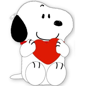 Snoopy Die Cut Pouch Heart