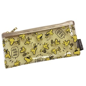 Snoopy Clear Pouch Wood