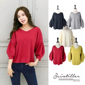 Knitted Top Electrical Prevention V-neck