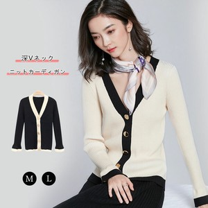 2018 A/W Cardigan Knitted Cardigan V-neck Knitted Top