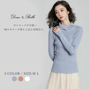 2018 A/W Knitted Top Knitted Sweater Long Sleeve Neck High Neck