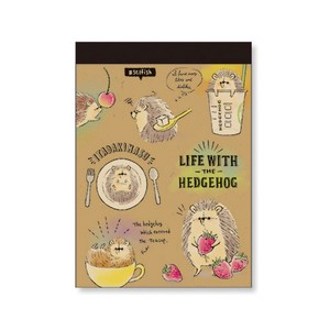 Hedgehog Memo Pad Hedgehog Life Craft
