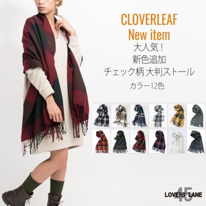 2018 A/W Popular New Color Checkered Large Format Stole