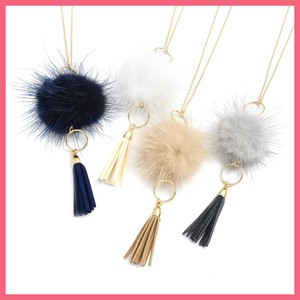 Mink Tassel Necklace