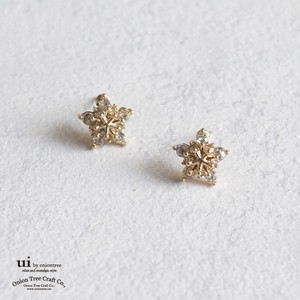 2018 A/W Pierced Earring Star Rhinestone Gold Accessory