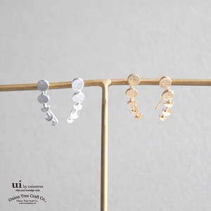 2018 A/W Pierced Earring Moon Gold Silver Accessory