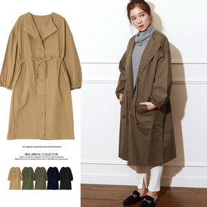 2018 A/W Non-colored Long Mod Coat Outerwear