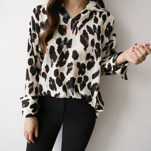 Leopard Attached Pullover