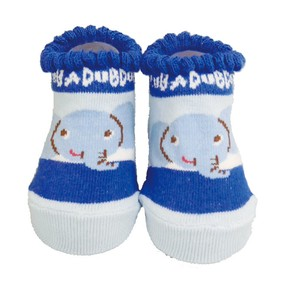 Baby Cup Border Socks Blue