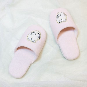 Rabbit Embroidery Pile Slipper Socks Loungewear Room