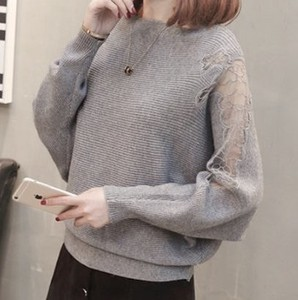 Lace Neck Knitted
