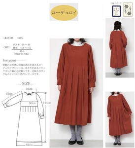 2018 A/W Behind Button One-piece Dress