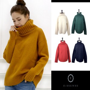 High Neck Wide Pullover Knitted Top