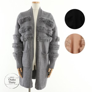 2018 A/W Fur Attached Knitted Cardigan