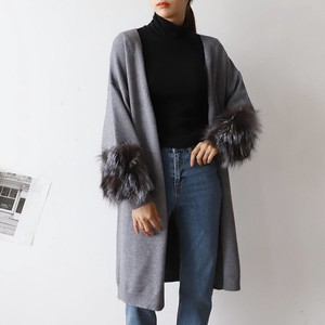 Fur Knitted Cardigan