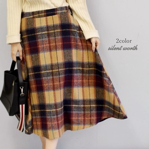 2018 A/W Multi Checkered Gigging Flare Skirt