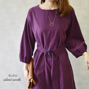 2018 A/W Belt Tuck One-piece Dress