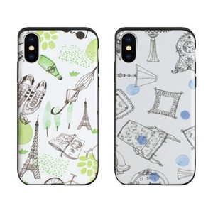 【iPhone XS/X】【iPhone XR】Card slide French Cafe(カードスライド フレンチヵフェ)