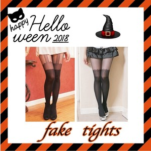 Lace Halloween Christmas Lace Tights Fake