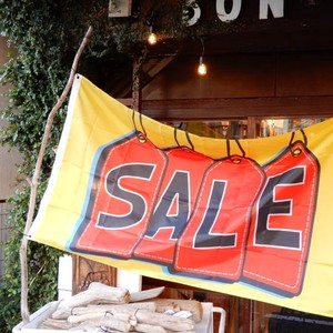 TOPANGA INTERIOR Shop Sign Flag/Sale Tags Flag