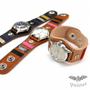 3 Colors Leather Multi Border Patch Watch Maid Japan