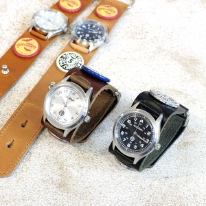 4 Colors Leather Vintage Processing Watch Maid Japan