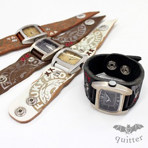 Vintage Processing Print Hand Watch 4 Colors Leather