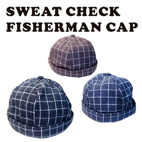 Sweat Grid Pattern Cap Watch Cap Knitted Hat Export Japanese